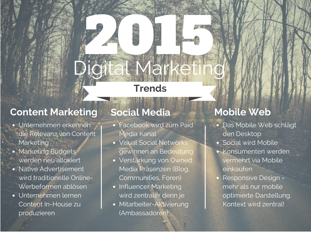 Digital Marketing Trends 2015 - zusammengefasst