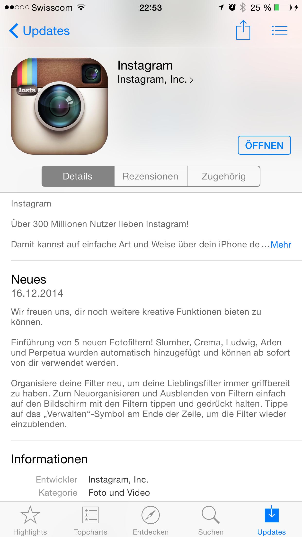 instagram update bringt 5 neue filter gnocchi digital marketing. Black Bedroom Furniture Sets. Home Design Ideas