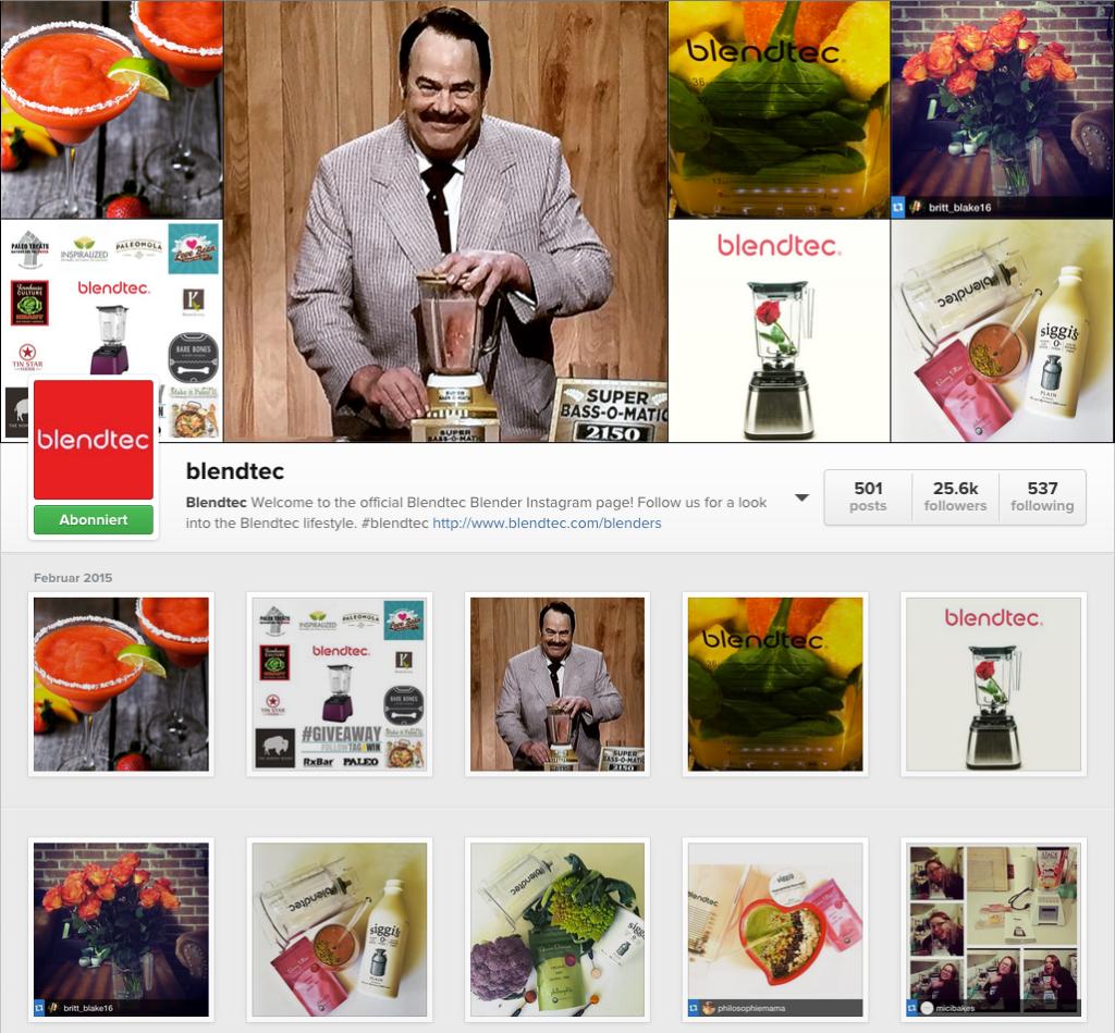 Blendtec Instagram Account