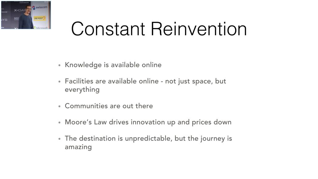 Ben Hammersley: Constant Reinvention | Konstante Wiedererfingung | Prinzipien