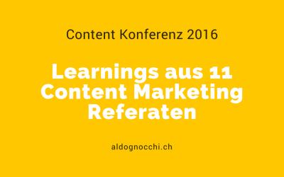 Content Konferenz: Learnings aus 11 Content Marketing Referaten