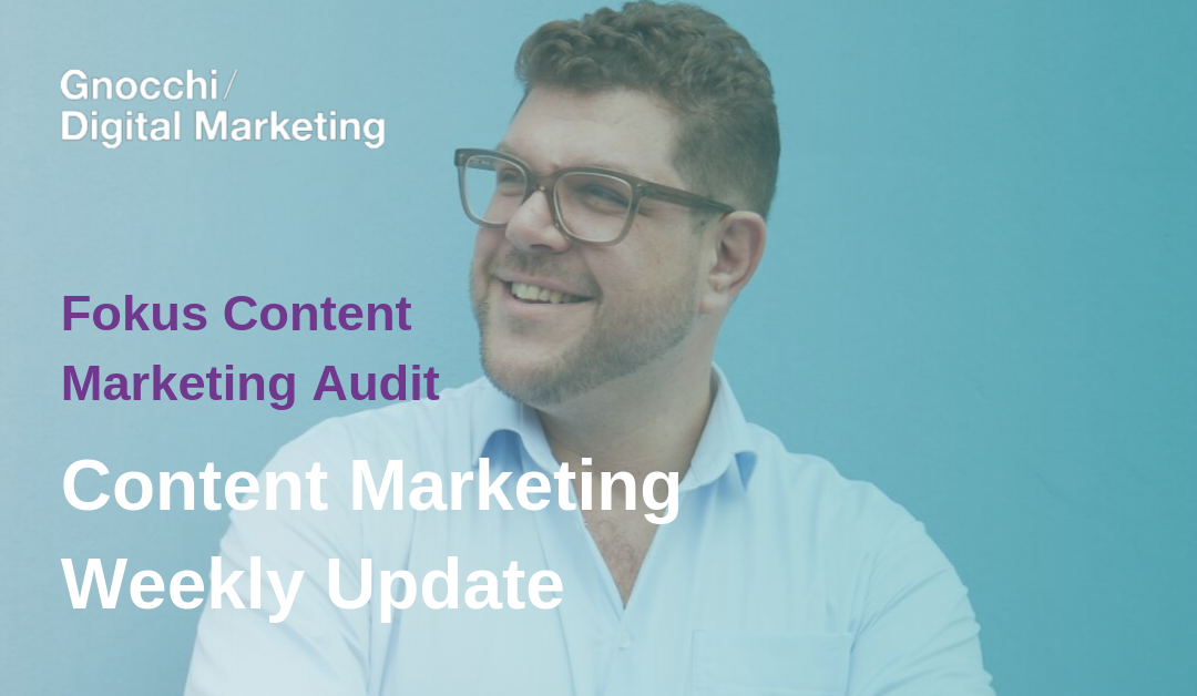 Weekly Content Marketing Update – Fokus Content Marketing Audit